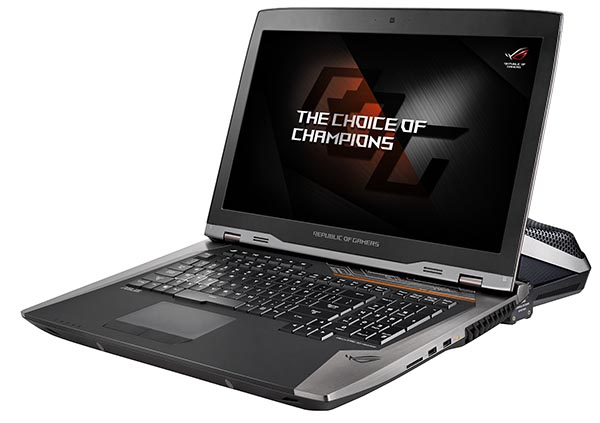 ROG GX800VH gaming laptop is equipped with a liquid cooling system